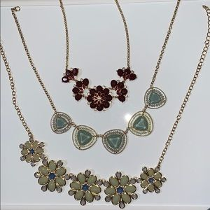 Set of three chunky necklaces
